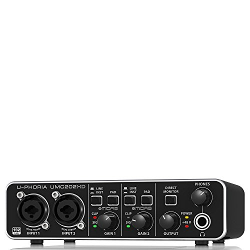 Behringer UMC202HD U-Phoria USB Audio Interface with MIDAS Microphone Preamplifiers 1